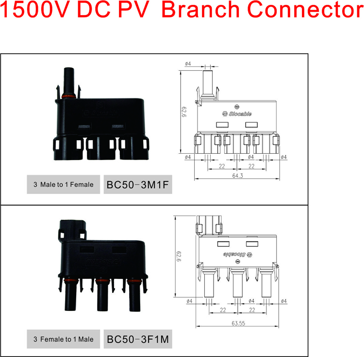 3to1 MC4 branch connector
