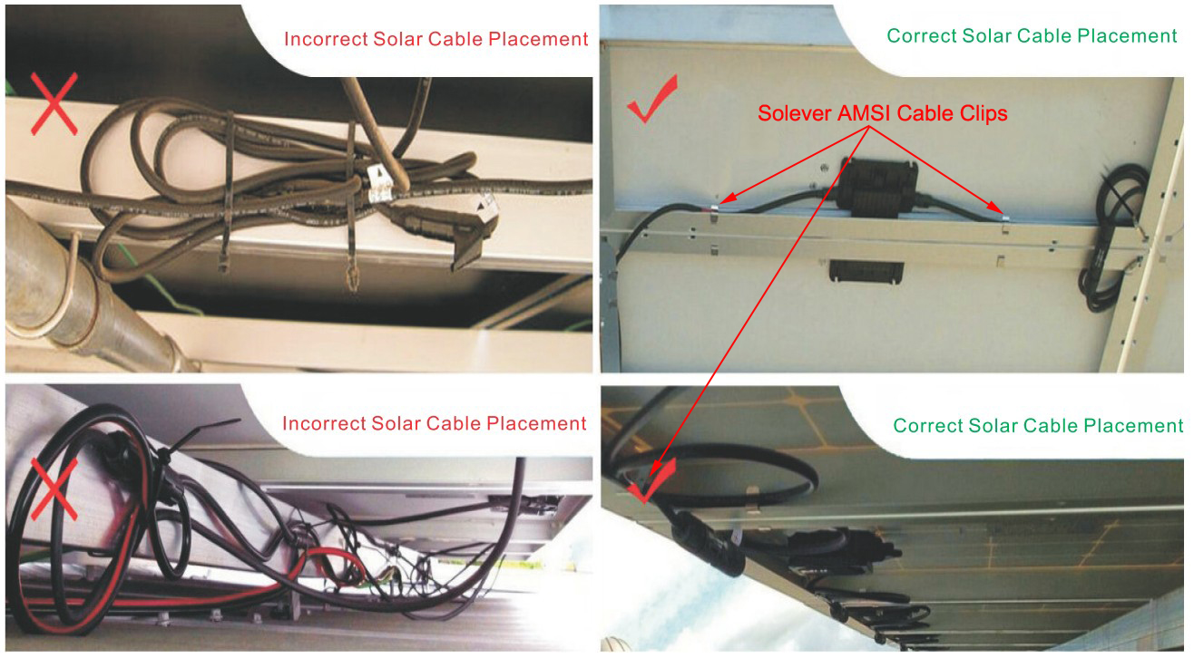 pv cable clips
