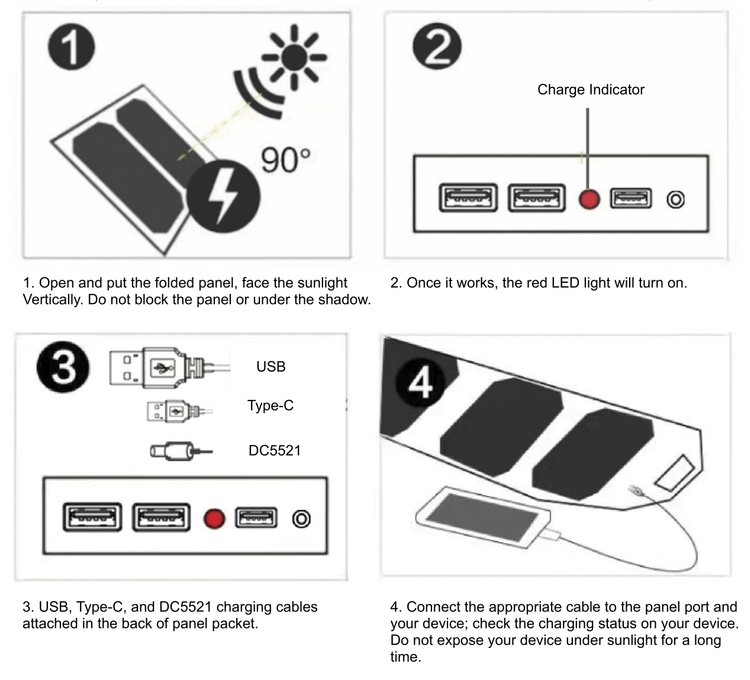 how to use a portable solar panel